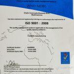 گواهی ISO 9001 تولید مبلمان